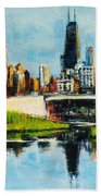 Downtown Chicago From Lincoln Park Bath Towel