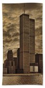Downtown Manhattan Circa Nineteen Seventy Nine  Bath Towel