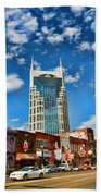 Downtown Nashville Blue Sky Bath Towel