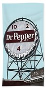 Dr Pepper Landmark Sign Roanoke Virginia Bath Towel