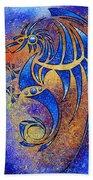 Dragissous V1 - Blue Dragon Bath Towel