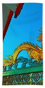 Dragon At The Gate Bath Towel