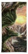 Dragon Branches Bath Towel