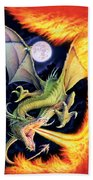 Dragon Fire Bath Towel