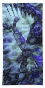 Dragon Flower Bath Towel