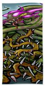 Dragon In Thorns Hand Towel
