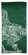 Dragon On Chalkboard Bath Towel