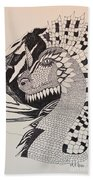 Dragon - Zentangle 16-04 Bath Towel