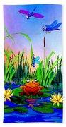 Dragonfly Pond Bath Towel