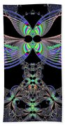 Dragonfly Queen At Midnight Fractal 161 Bath Towel