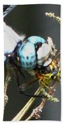 Dragonfly With Yellowjacket 3 Bath Towel