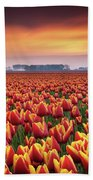 Dramatic Tulips Bath Towel