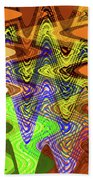 Drawing Color Squares Abstract Bath Towel