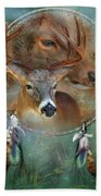 Dream Catcher - Spirit Of The Deer Bath Towel