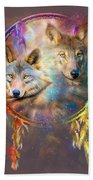 Dream Catcher - Wolf Spirits Bath Towel