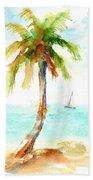 Dreamy Tropical Beach Palm Bath Towel