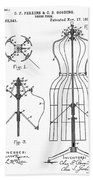 Dress Form Patent 1891  Bath Towel