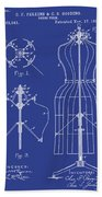 Dress Form Patent 1891 Blue Bath Towel