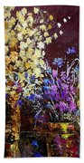 Dried Flowers  Bath Towel