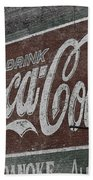 Drink Coca Cola Roanoke Virginia Bath Towel