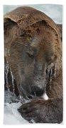 Dripping Grizzly Bear Bath Towel