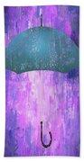 Dripping Poster Purple Rain Bath Towel