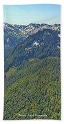 Drone Shot Of Lake Evan Hand Towel