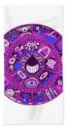 Drop Mandala Purple And Blue Bath Towel