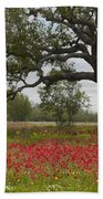 Drummonds Phlox Meadow Near Leming Texas Bath Towel