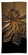 Dry Leaf Collection Digital  Bath Towel