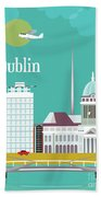 Dublin Ireland Vertical Scene Bath Towel