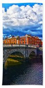 Dublin's Fairytales Around Grattan Bridge 2 Bath Towel