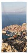 Dubrovnik And The Adriatic Coast In Croatia Bath Towel