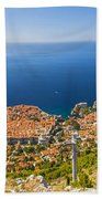 Dubrovnik From Above Panorama Bath Towel