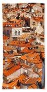 Dubrovnik Orange Old Town Rooftops Bath Towel