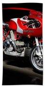 Ducati Mhe And Ferrari Bath Towel