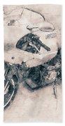 Ducati Paulsmart 1000 Le - 2006 - Motorcycle Poster - Automotive Art Hand Towel