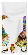 Duck Family-colorful Bath Towel