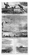Duck Hunting, 1868 Bath Towel