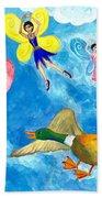 Duck Meets Fairy Ballet Class Bath Towel