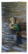 Ducks In The Pond Bath Towel