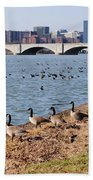 Ducks Of The Potomac Bath Towel
