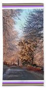 Dundalk Avenue In Winter. L B With Decorative Ornate Printed Frame. Bath Towel