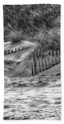 Dunes In Black And White Bath Towel