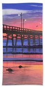 Dusk At The Pier Hand Towel