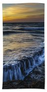 Dusk At Torregorda Beach San Fernando Cadiz Spain Bath Towel