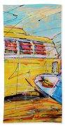 Dutch Holiday, Yellow Surf Bus Hand Towel