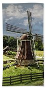 Dutch Windmill Near The Zuider Zee Bath Towel