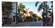 Duval Street In Key West Bath Towel