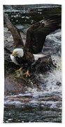 Eagle Catches Fish Bath Towel